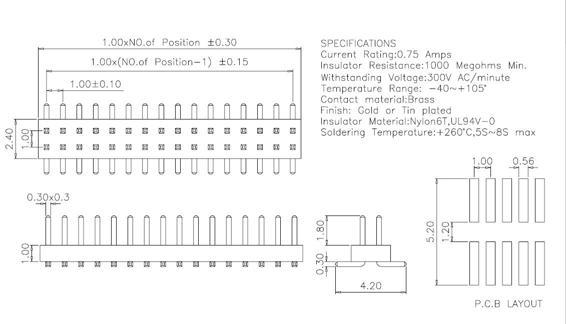 1-0mm-smt-pin-header-dual-row