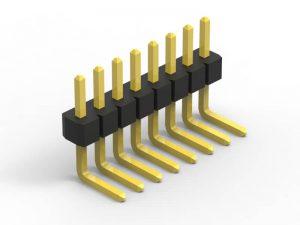 1.0mm pin header right angle single row