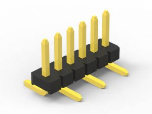 1.27mm pin header SMD single row