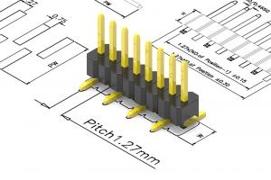 1.27mm pitch pin header
