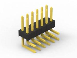 2.54mm pin header right angle dual row