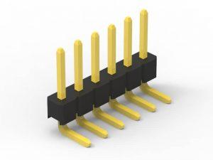 2.54mm pin header right angle single row